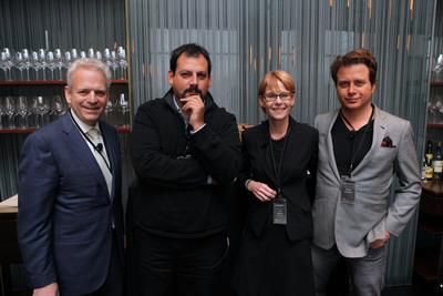 Sandy Block, Pedro Parra, Lori Tieszen and Mark Oldman at Vinos de Terroir.  (PRNewsFoto/Wines of Chile)