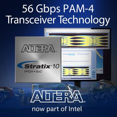 56-Gbps PAM-4 transceiver technology.