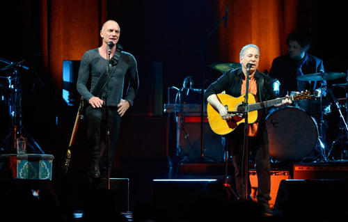 "Paul Simon and Sting kicked off their ""Paul Simon & Sting: On Stage Together"" Tour at the Toyota Center  ..."