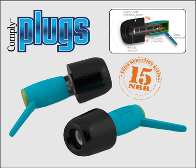 Hearing Components's new Comply(TM) Foam Plugs are comfortable ear plugs that cut the intensity of surrounding sound levels without compromising the quality of the sound.  (PRNewsFoto/Hearing Components)