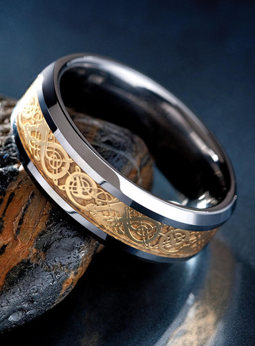 Draco Tungsten Men's Ring, $99 at Stauer.com.  (PRNewsFoto/Stauer)