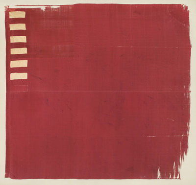 The Forster Flag, circa 1775. The earliest surviving American Revolutionary War flag incorporating 13 stripes representing the 13 original colonies. Estimated at $1-3 million. To be auctioned at Doyle New York on April 9. Image courtesy of Doyle New York.