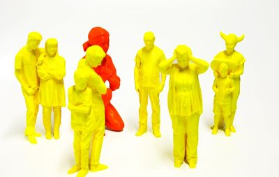 Stratasys 3D printed models produced using FDM technology in a range of colors