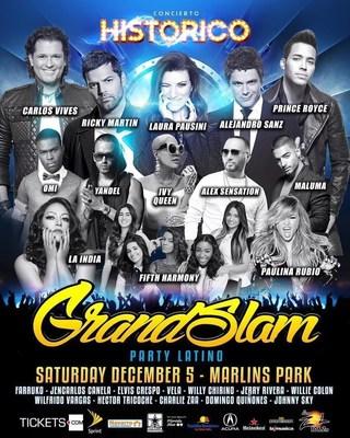 Grand Slam Party Latino, 5 de diciembre, Marlins Park.