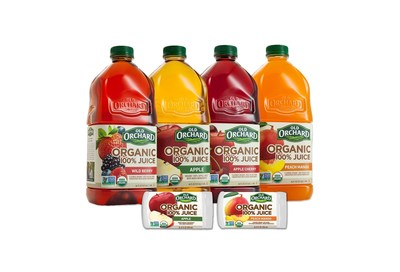 Old Orchard Brands(R) raises the stakes in affordable, quality fruit juice with new line of organic, Non-GMO 100% juice blends