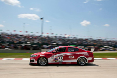 Kia Racing's Turbocharged Optimas Rev Up for 2013 Pirelli World Challenge Season Opener.  (PRNewsFoto/Kia Motors America)