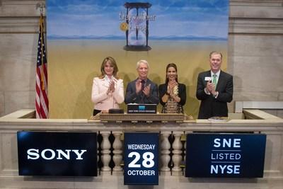 Deidre Hall, Greg Meng, Kristian Alfonso ring opening bell at stock exchange