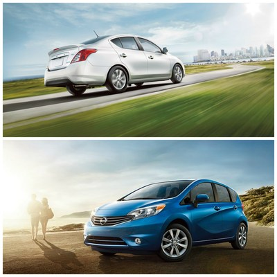 For drivers searching for refreshing design and excellent fuel economy, Robbins Nissan near Houston as now added the 2015 models of both the Versa sedan and the Versa Note hatchback. (PRNewsFoto/Robbins Nissan)