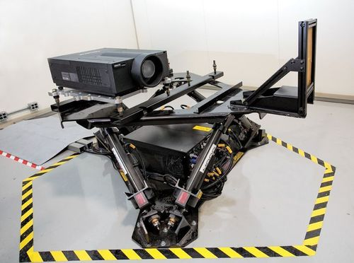 Testing a commercial projector incorporating Stratasys 3d printed parts (PRNewsFoto/STRATASYS)