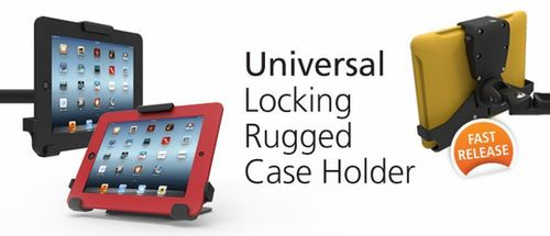 The Maclocks Universal Rugged Case Holder's swing arm version is perfect for the mobile workforce