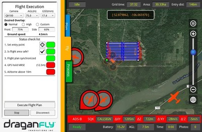 The Ping network at work with Draganfly Innovations' Surveyor GS.