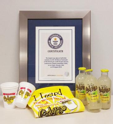 Calypso Lemonades breaks the Guinness World Record for Largest Glass of Lemonade ever made.