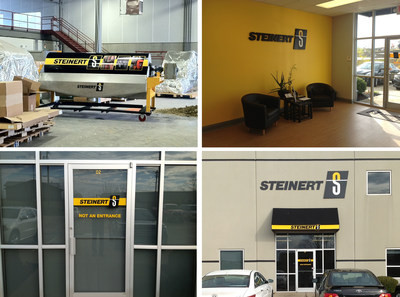The visual communications update completed for Steinert, a global leader in separation technology solutions for scrap, waste and mining industries. FASTSIGNS(R) provided interior and exterior signage, as well as wrapped a large magnetic wet drum for a tradeshow demonstration. (PRNewsFoto/FASTSIGNS)