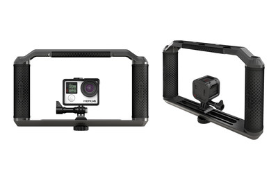 GoPole's new Triad Grip is a versatile, do-it-all mount that offers protection, stability and multiple accessory mounting options for your GoPro or any other cameras.