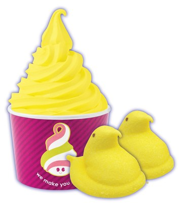 """From March 1st to March 31st, Menchie's locations will be """"PEEPed"""" out with the addition of a creamy marshmallow flavored frozen yogurt inspired by PEEPS(R)!"""