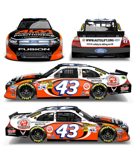 Richard Petty Motorsports No. 43 Ford to Carry Automotive Lift Institute (ALI) Safety Message at