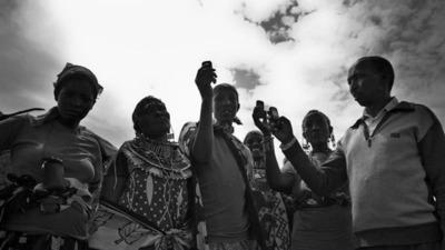 A Maasai Mobile Success, Jay Bendixen, Kenya.  (PRNewsFoto/CGAP)