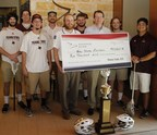 Jeff Wilkinson, Pioneer Bank President & CEO, with Coach Kyle Saunders and players from the Texas State Men's Lacrosse team.