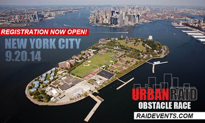 Urban Raid Obstacle Race To Touch Down On Governor's Island, Less Than One-half Mile From The Southern Tip Of Manhattan!