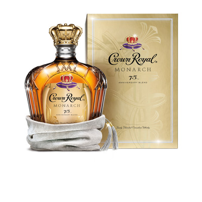 Crown Royal launches Monarch 75th Anniversary Limited Edition Blend to commemorate  the brand's monumental anniversary and celebrate the illustrious Crown Royal blending tradition. (PRNewsFoto/Crown Royal)