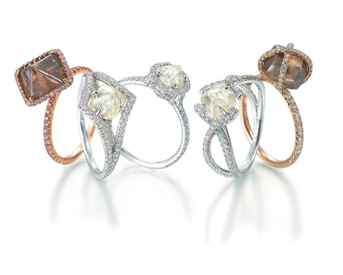 Diamond in the Rough, Launches E-Commerce Bridal Web Site Featuring All Natural Rough Diamond