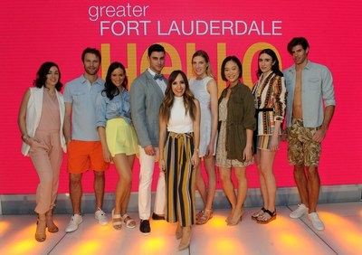Lilliana Vazquez (center) style expert, TV host and founder of The LV Guide, shares summer style trends at the Greater Fort Lauderdale LUXE experience, Friday, March 18, 2016, at The Shops at Columbus Circle in New York.