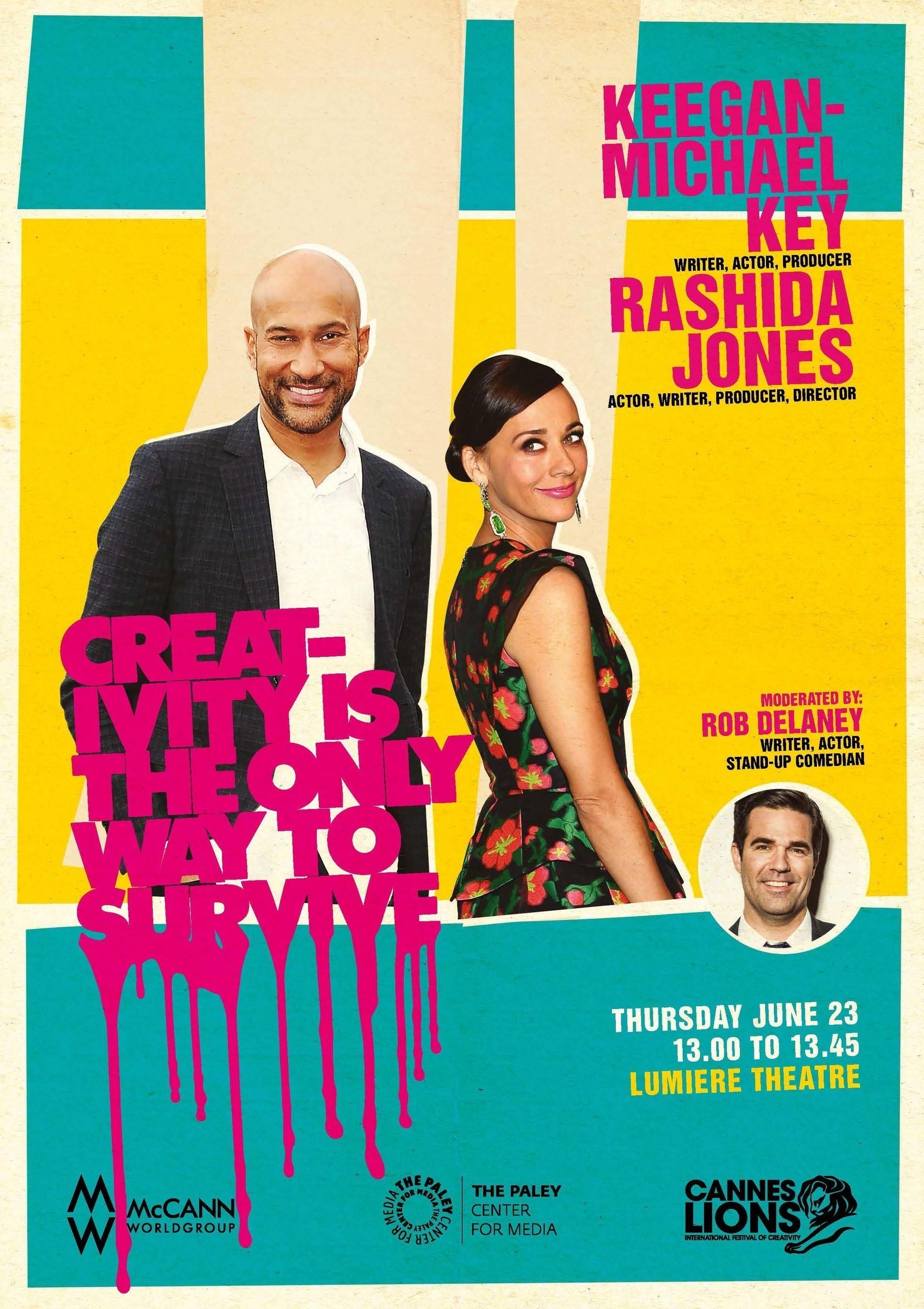 Comedy All-Stars Rashida Jones, Keegan-Michael Key, and Rob Delaney to Appear at the 2016 Cannes Lions Festival