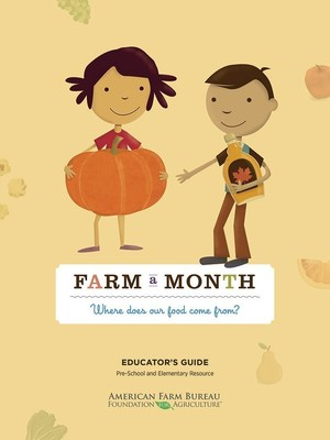 American Farm Bureau Foundation for Agriculture's Farm A Month learning kit cover.