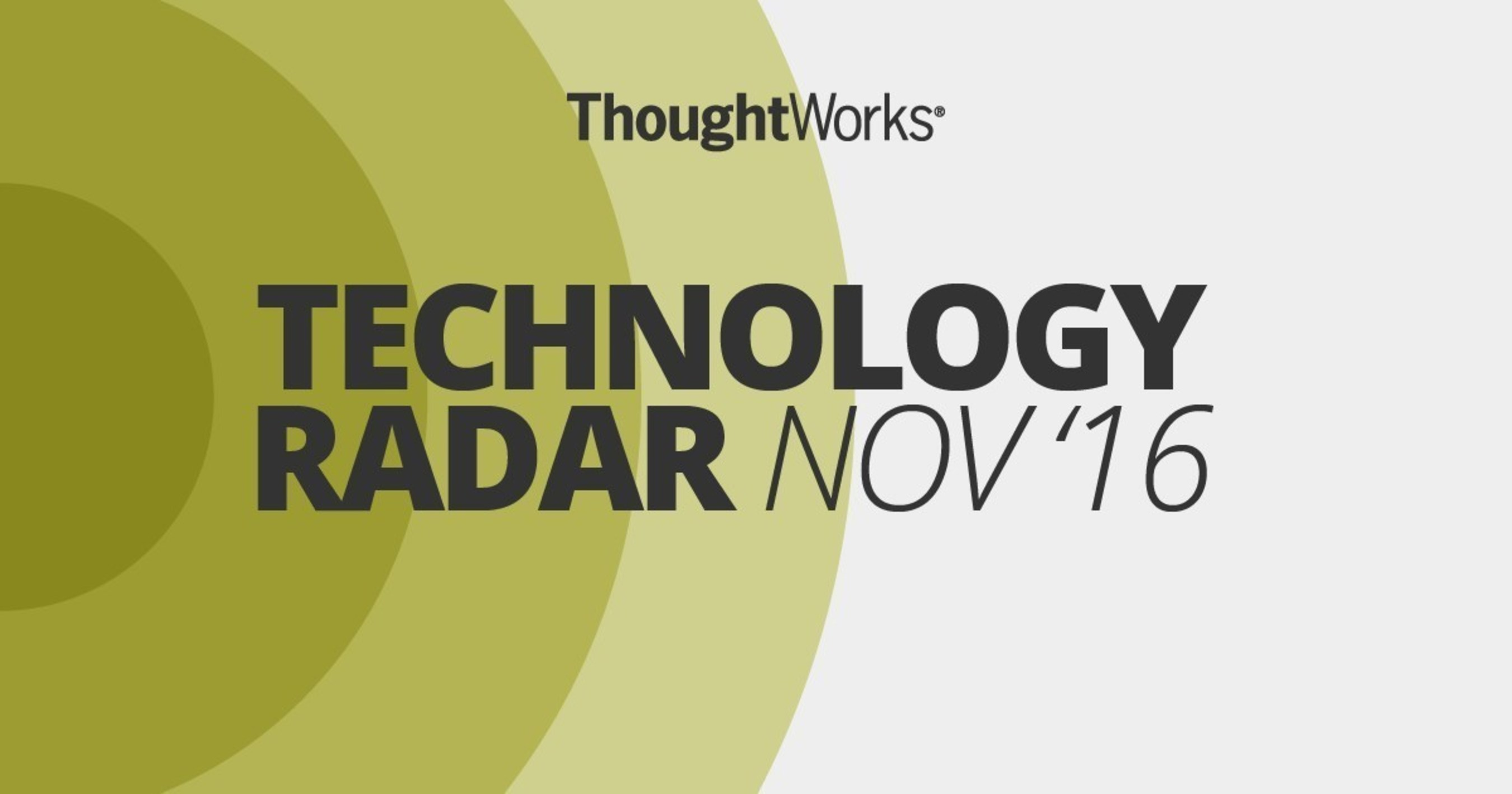 ThoughtWorks' Bi-Annual Technology Radar Highlights Emerging