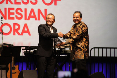 Marvell CEO Dr. Sehat Sutardja Receives Indonesian Diaspora Lifetime Achievement Award for Global Pioneering and Innovation.  (PRNewsFoto/Marvell)