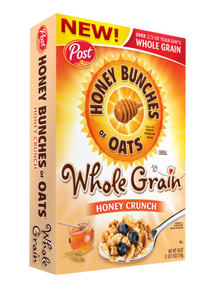 New Honey Bunches of Oats Whole Grain cereals are packed with whole grain goodness!