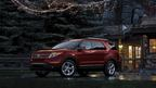 The 2015 Ford Explorer in the new exterior color bronze fire metallic tinted clearcoat. (PRNewsFoto/Dahl Ford)