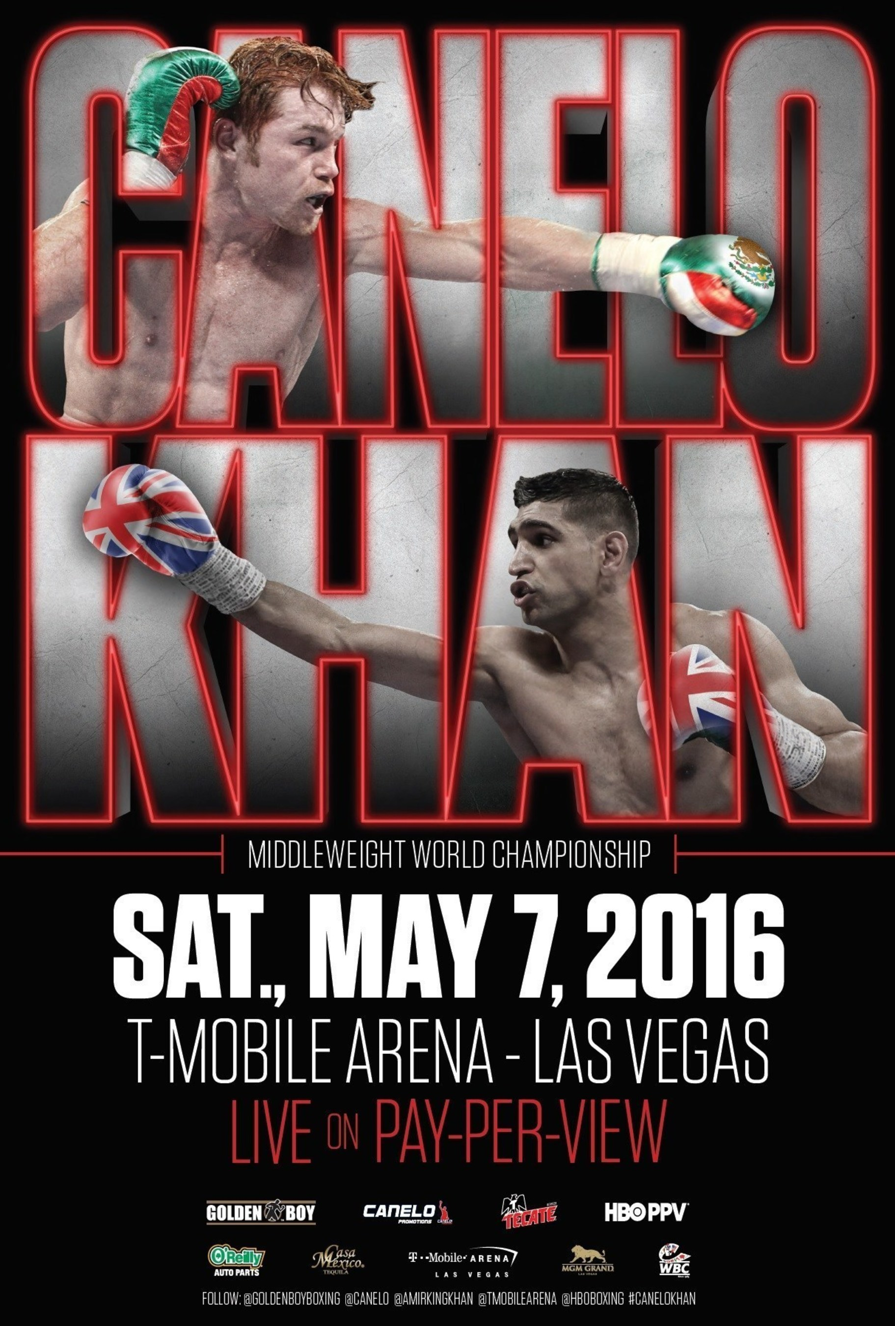 Golden Boy Promotions To Offer Boxing's First Megafight Of 2016 Canelo/Khan On Internet Pay-Per-View