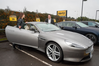 Hertz launches its Dream Collection in the UK offering its car rental customers the opportunity to create lasting memories behind the wheel of a stunning marque. Featuring a VIP customer service, the iconic Aston Martin DB9, powerful Bentley Continental GT,  luxurious Bentley Flying Spur and all-new Range Rover Sport are some of the vehicles that Hertz customers in the UK can now whisk away.  (PRNewsFoto/The Hertz Corporation)