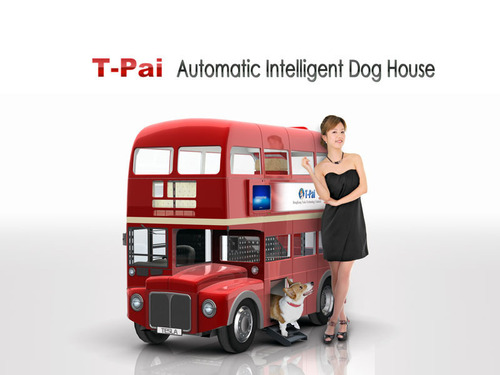 T-Pai, the invention from HK Tesla Technology Ltd., is a tailor made intelligent doghouse for dogs.  (PRNewsFoto/Hong Kong Tesla Technology Limited)