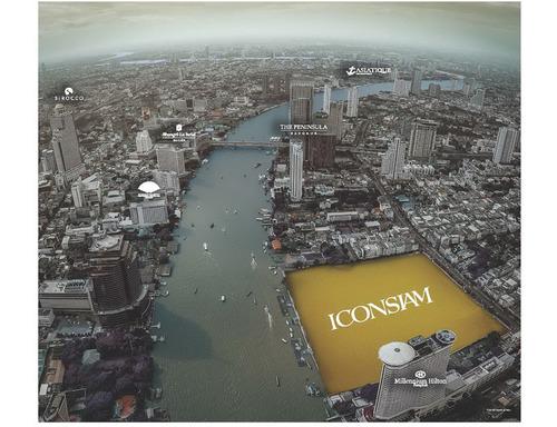 US$ 1.54 billion 'ICONSIAM' national landmark readies to rise in Thailand - begins piling (PRNewsFoto/Siam Piwat Co., Ltd.)