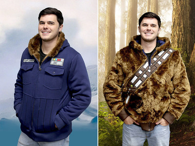 Star Wars Chewbacca Han Solo Reversible Hoodie available at StylinOnline.com.