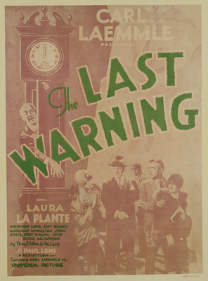 Key art from Universal's silent film classic, The Last Warning