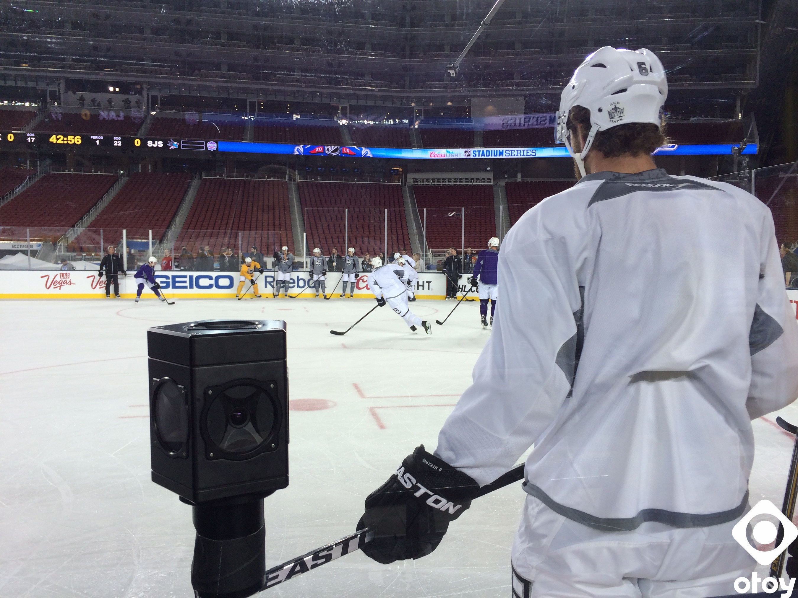 As good as being there: National Hockey League (NHL) and OTOY preview live streamed hockey game in 360-degree virtual reality