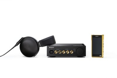 Sony's new Signature Series: reference standard MDR-Z1R headphones, NW-WM1Z and NW-WM1A Walkman(r) players, and TA-ZH1ES headphone amplifier.