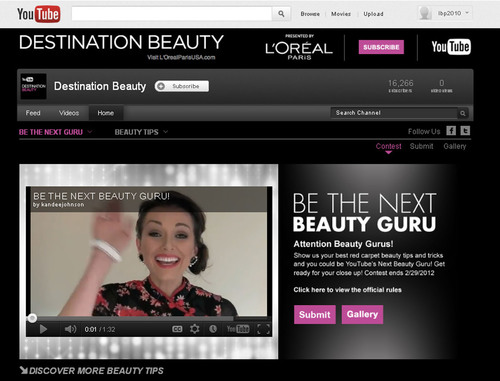 Are You the Next Destination Beauty Guru? L'Oreal Paris and YouTube Launch a Nationwide Contest for a ...