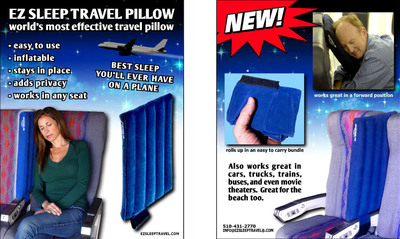 EZ Sleep Travel Pillow.  (PRNewsFoto/EZ Sleep Travel)