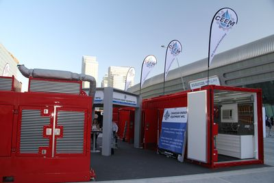 CEEM exhibiting its products as part of the 2013 ADIPEC oil show