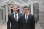 Ryan Kavanaugh, CEO of Relativity, and Mr. Bu Yu, President of JSBC. (PRNewsFoto/Relativity Media)