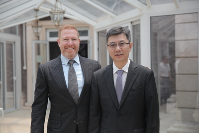 Ryan Kavanaugh, CEO of Relativity, and Mr. Bu Yu, President of JSBC. (PRNewsFoto/Relativity Media)