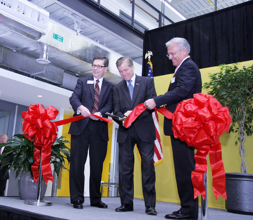 Virginia Gov. Bob McDonnell at the Commonwealth Center For Advanced Manufacturing grand opening.  (PRNewsFoto/Commonwealth Center for Advanced Manufacturing)