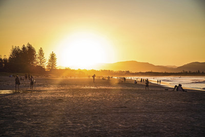 Tallow Beach, located in the relaxed beachside town, Byron Bay, in North Eastern NSW.