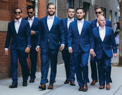 The Groomsman Suit Brilliant Blue Suits