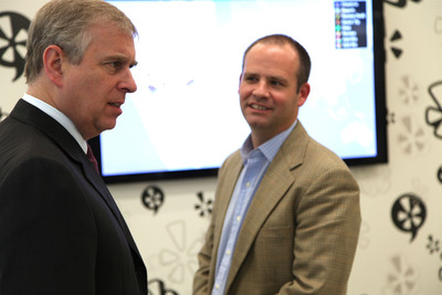 The Duke of York and Jed Nachman at Yelp London.  (PRNewsFoto/Yelp! Inc.)