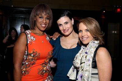 Gayle King, Idina Menzel, Katie Couric